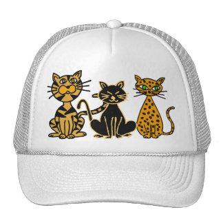 BH gorra divertido del dibujo animado de los gatos