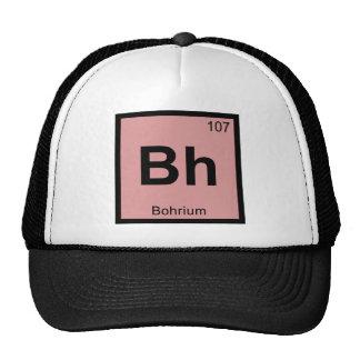 BH - Símbolo de la tabla periódica de la química Gorros Bordados