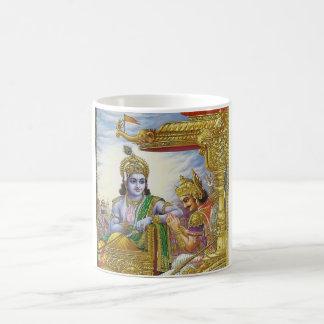 Bhagavad Gita - taza de Krishna Arjuna