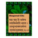 BHAGWAT GEETA Sloka Ch 4/7 Incarnation revealed Postcard