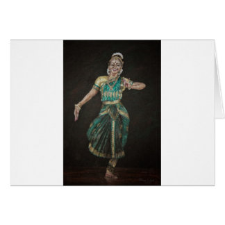 Bharatanatyam Dancer Card