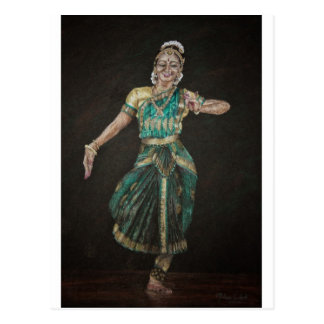 Bharatanatyam Dancer Postcard