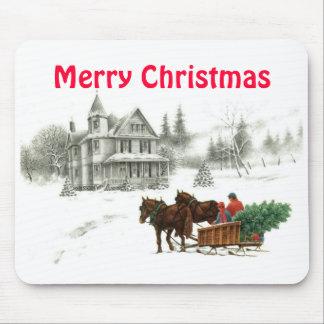 BHK Christmas 1, Merry Christmas Mouse Pad