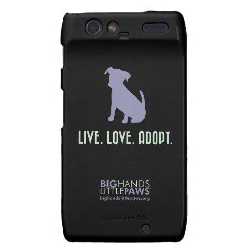 BHLP Live.Love.Adopt. Caso de Droid Razr del perro Droid RAZR Carcasa