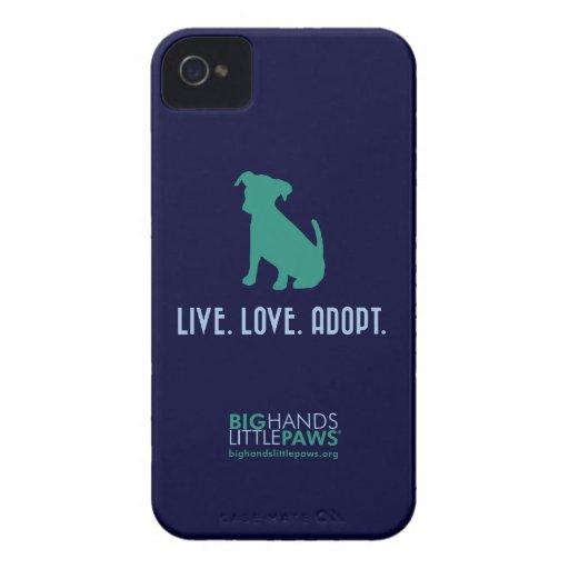 BHLP Live.Love.Adopt. Dog iPhone 4/4S Case