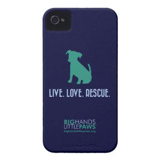 BHLP Live Love Rescue Caso del iPhone 4 4S del pe iPhone 4 Fundas