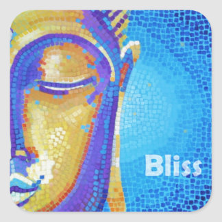 Bhudda Bliss Painting Square Sticker