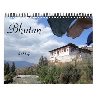 Bhután 2014 calendarios