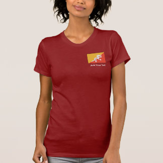 Bhután - bandera butanesa tee shirt