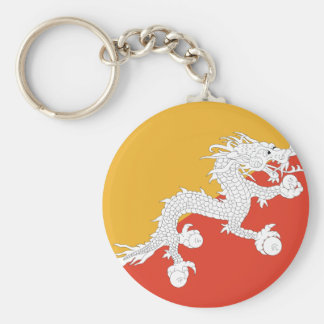 bhutan basic round button keychain
