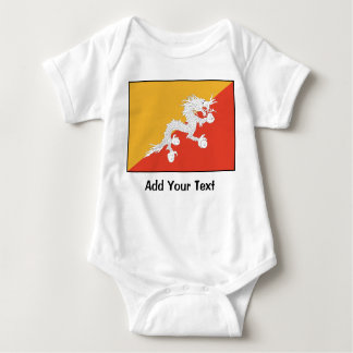 Bhutan - Bhutanese Flag Baby Bodysuit