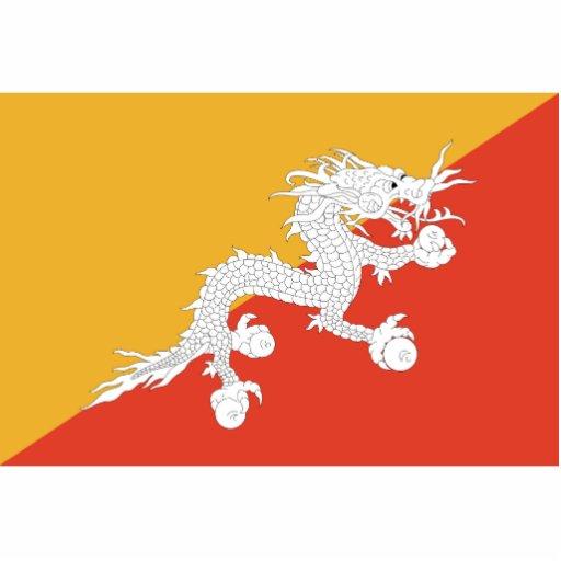 Bhutan - Bhutanese Flag Cut Out