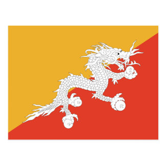 Bhutan - Bhutanese Flag Postcard