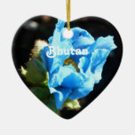 Bhutan Blue Poppy Christmas Ornaments