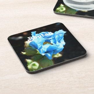 Bhutan Blue Poppy Drink Coaster