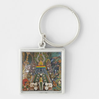Bhutan. Ceremonial cakes made by monks adorn the 2 Keychain