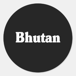 Bhutan Classic Style Stickers