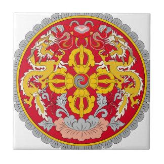 Bhutan Coat of Arms Ceramic Tile