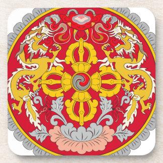 Bhutan Coat of Arms Coasters