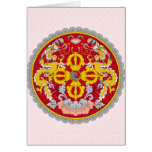 Bhutan Coat of Arms detail Greeting Cards