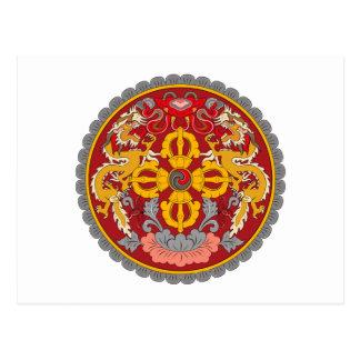 Bhutan Coat of Arms Postcard
