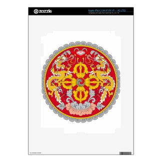 Bhutan Coat of Arms iPad 3 Decals