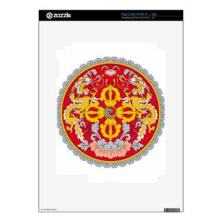 Bhutan Coat of Arms iPad 2 Decals