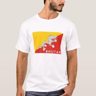 bhutan country flag text name T-Shirt