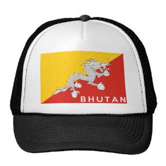 bhutan country flag text name trucker hat
