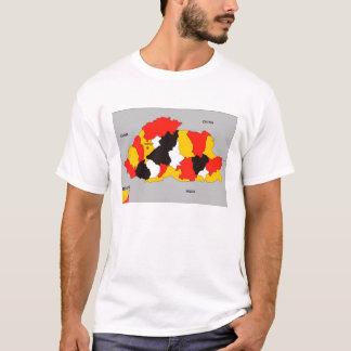 bhutan country political map flag T-Shirt