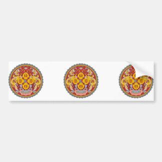 bhutan emblem bumper sticker
