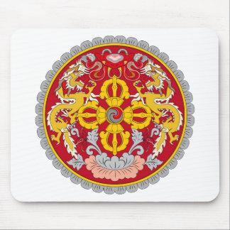 Bhutan emblem. Dragon motif Mouse Pad
