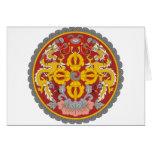 bhutan emblem greeting cards
