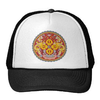 bhutan emblem trucker hat