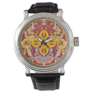 bhutan emblem wrist watch