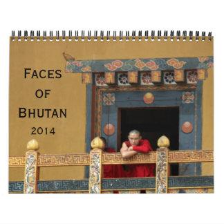 bhutan faces 2014 wall calendar