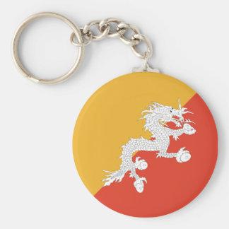 Bhutan Fisheye Flag Keychain