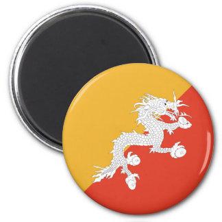 Bhutan Fisheye Flag Magnet