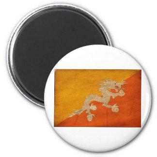 Bhutan Flag 2 Inch Round Magnet