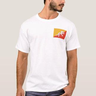 Bhutan Flag and Map T-Shirt