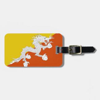 Bhutan Flag Bag Tag