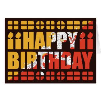 Bhutan Flag Birthday Card