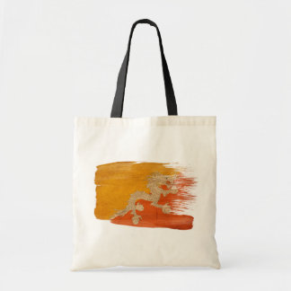 Bhutan Flag Canvas Bags
