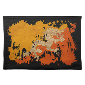 Bhutan Flag Cloth Placemat
