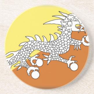 Bhutan Flag Coasters