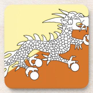 Bhutan Flag Beverage Coaster