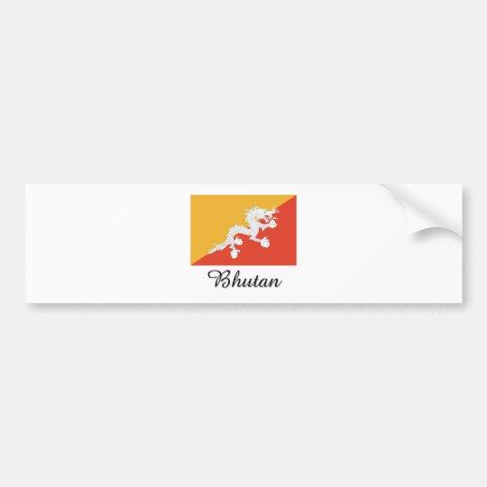 Bhutan Flag Design Bumper Sticker