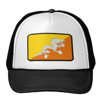 Bhutan flag embroidered effect hat