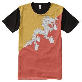 Bhutan Flag full All-Over-Print Shirt