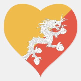 Bhutan Flag Heart Sticker